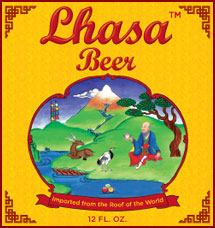 lhasa beer label